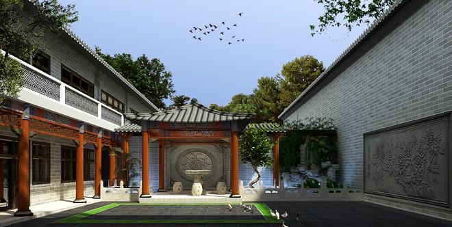 老北京四合院506平米三居装修效果图大全2015图片 搜狐焦