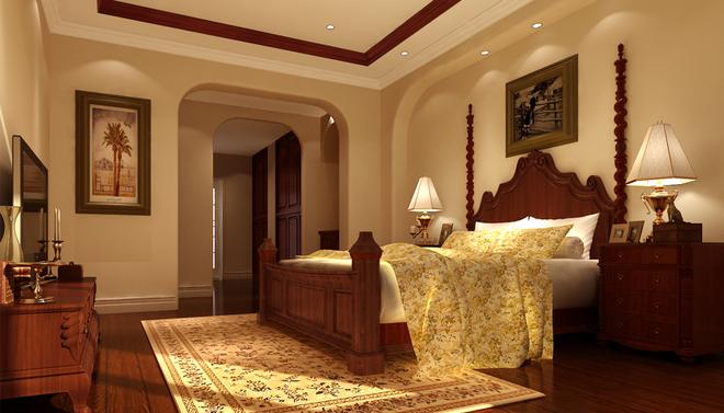 新中式一居卧室装修效果图大全2015图片