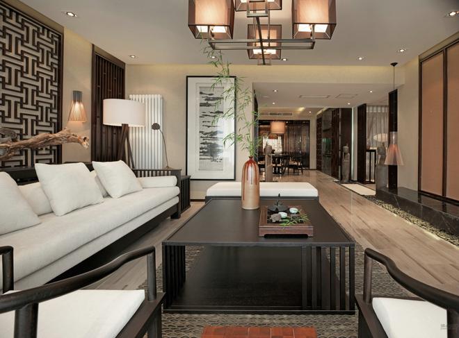 新中式别墅客厅图