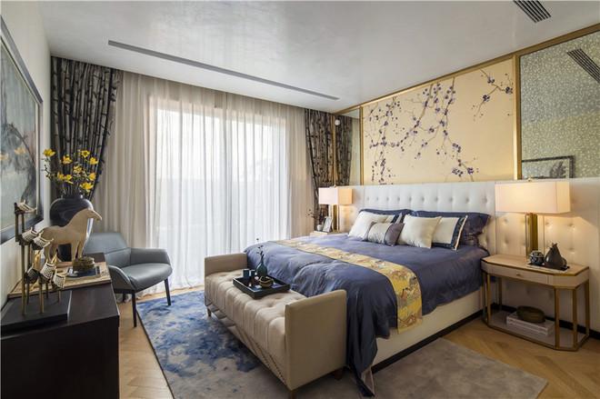 新中式别墅卧室装修效果图欣赏