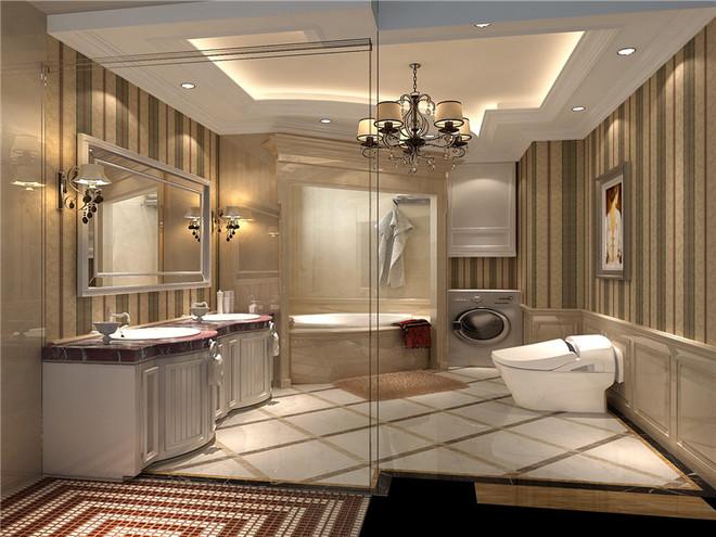欧式古典别墅卫浴间图片大全