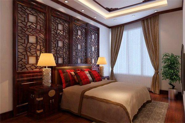 中式四居卧室装修效果图欣赏