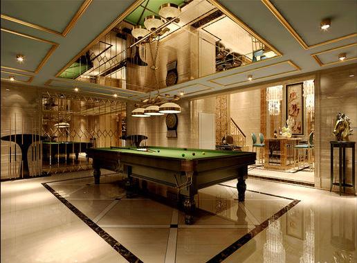 北京湾 北京湾300平别墅欧式古典风  餐厅实景图:地下室大厅2 此方案