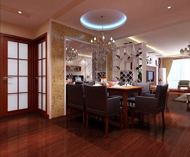 现代三居餐厅装修效果图大全2015图片