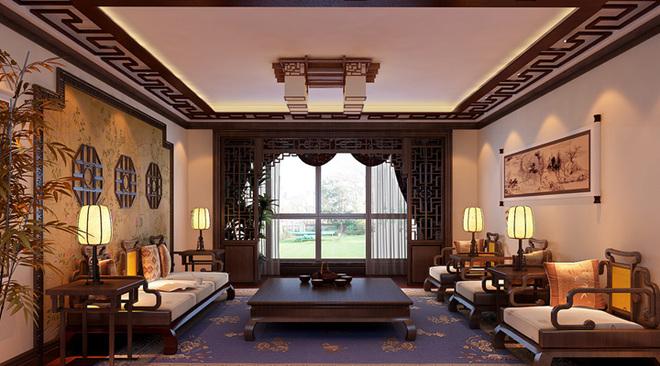 中式复式客厅装修效果图大全2015图片
